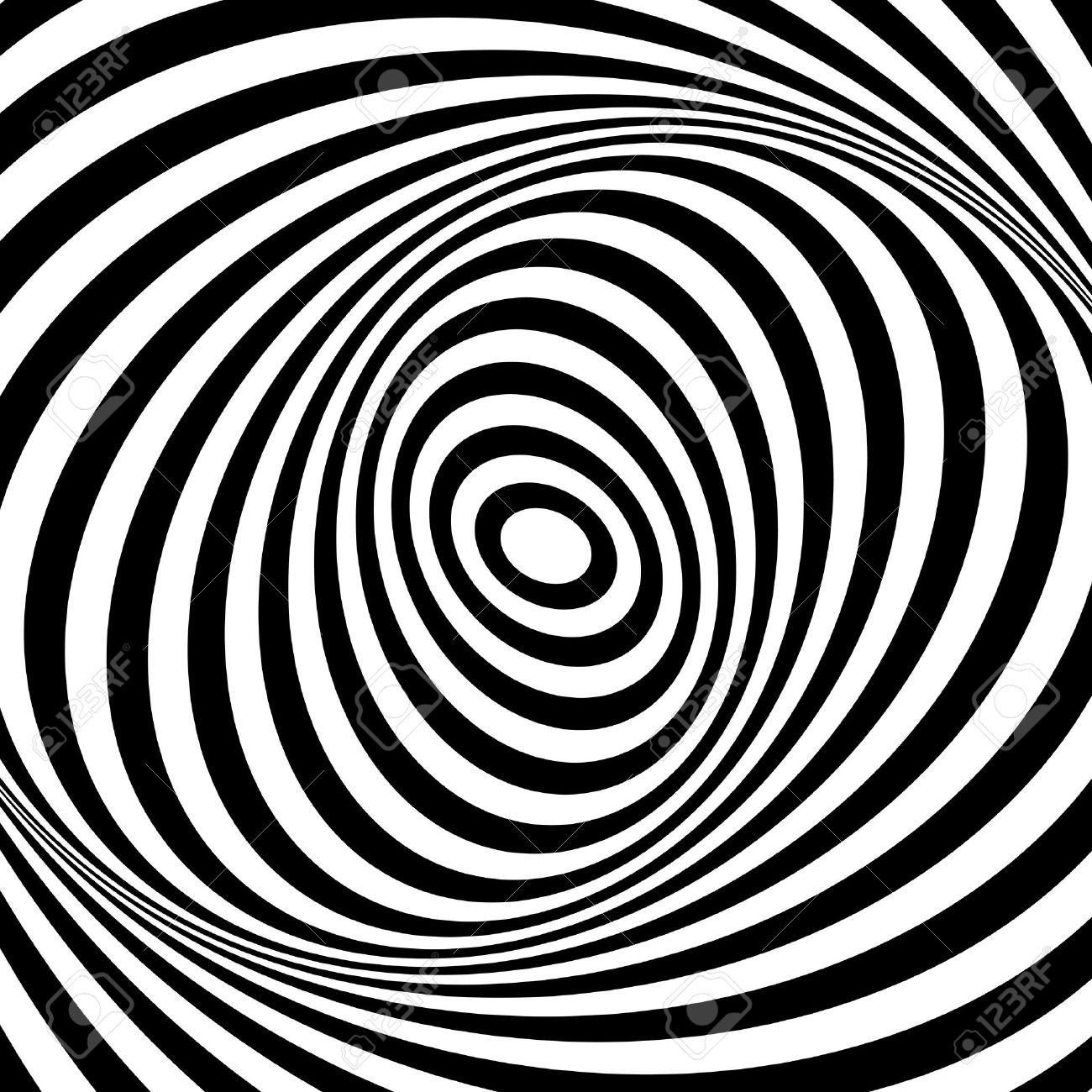 Whirl movement illusion. Op art design. Abstract textured . Vector art. - 25304463