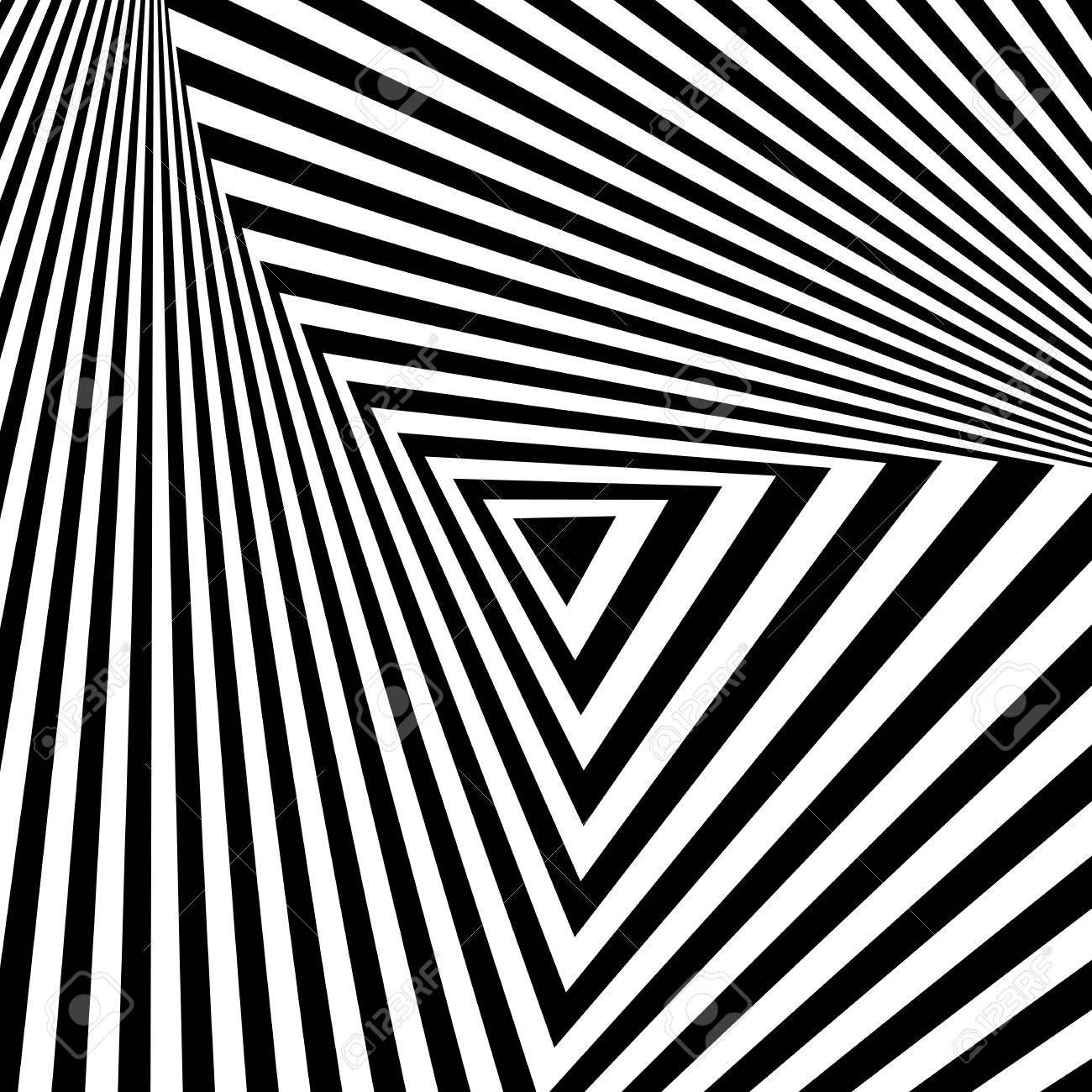 Abstract geometric backdrop in op art design. Vector art. - 26050415