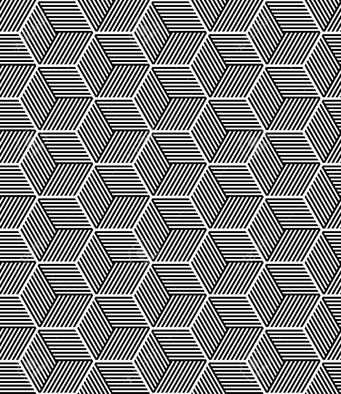 Seamless op art pattern. Geometric texture. Vector art. - 49585143