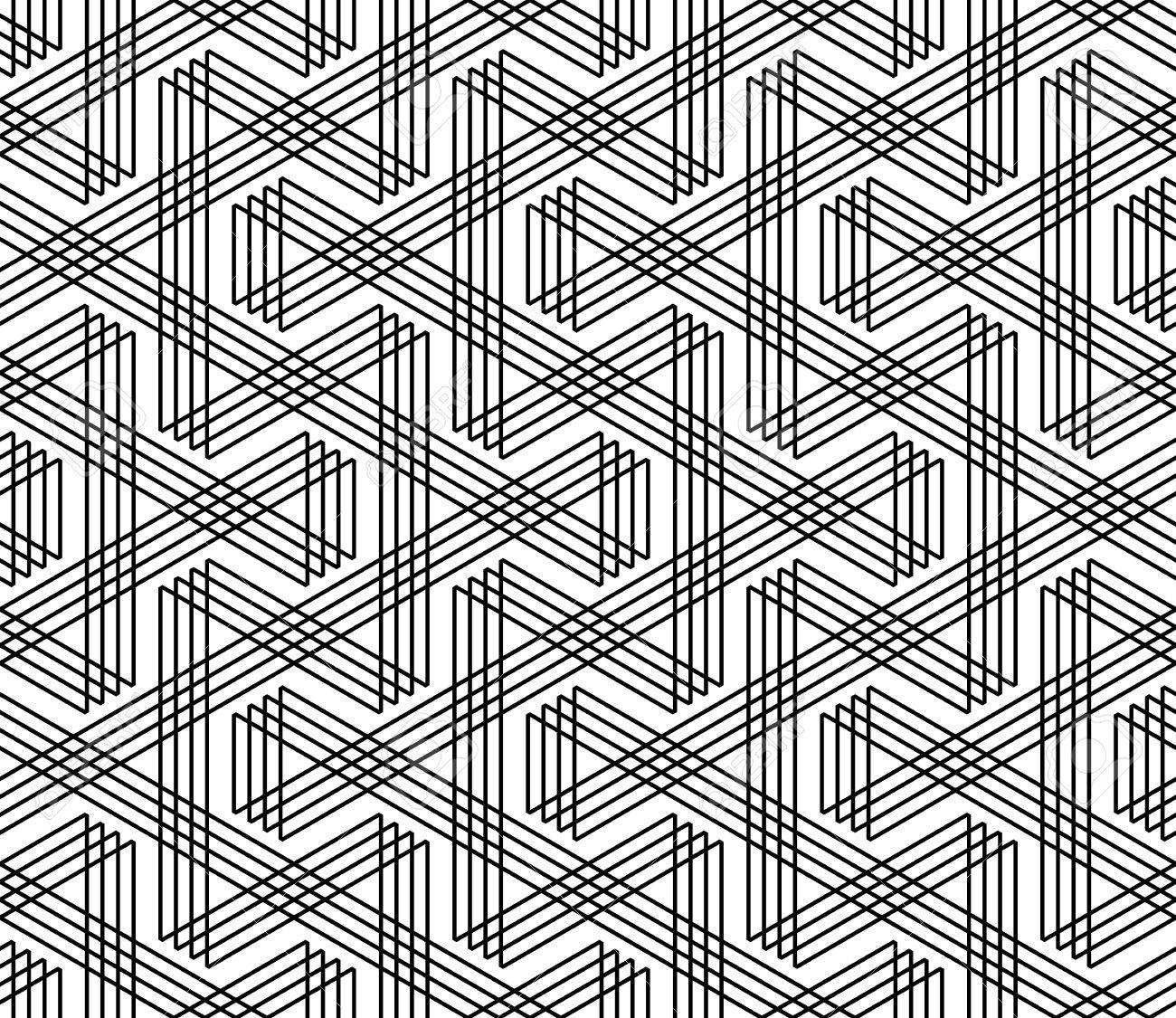 Seamless zigzag lines pattern. Geometric texture. Vector art. - 53506863