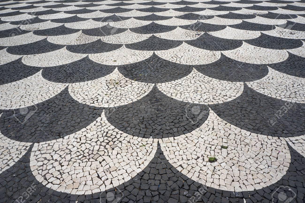 Tegels Met Patroon : Mozaïek tegels stoep patroon op straten en pleinen in funchal