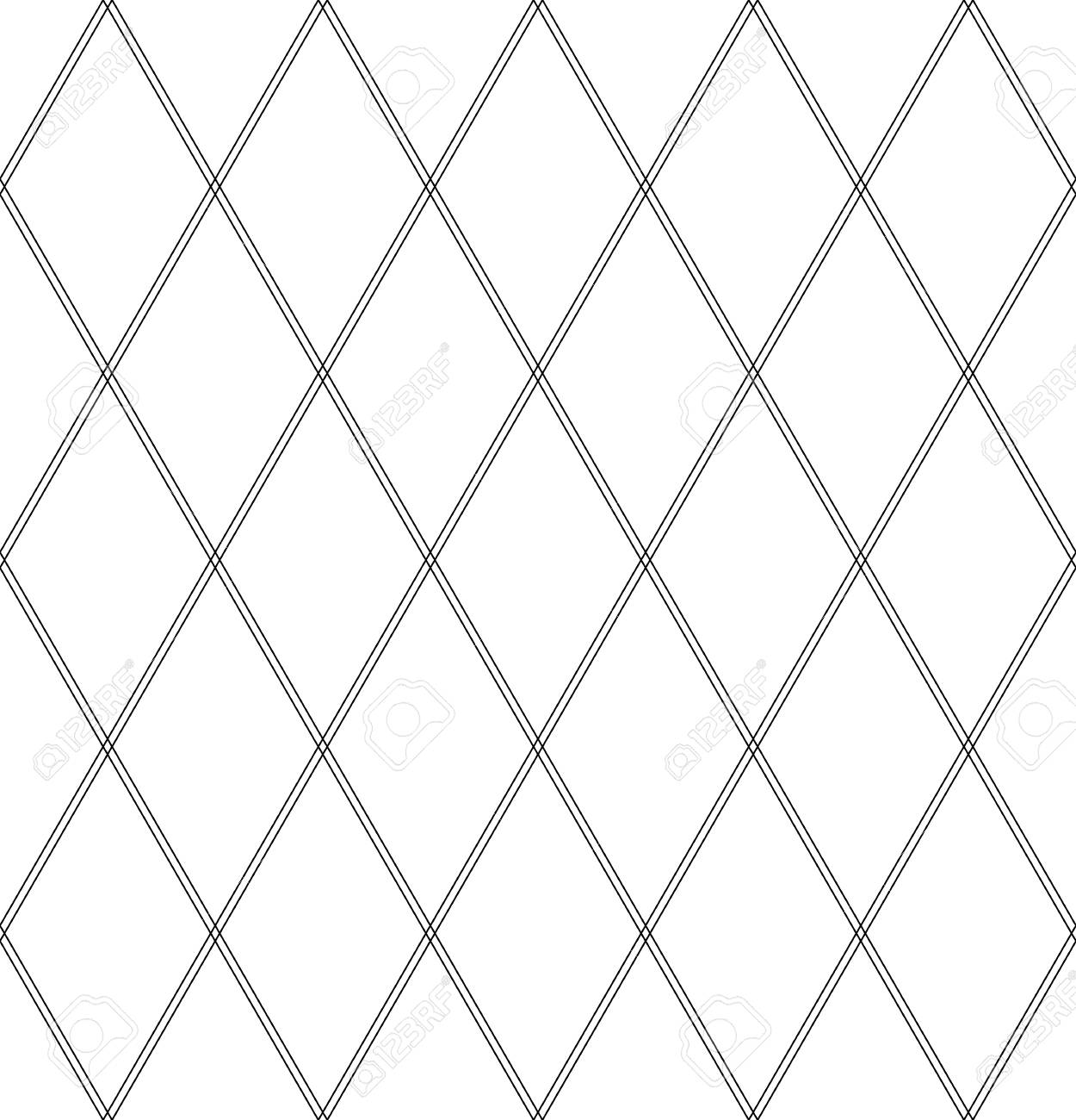 Seamless diamonds pattern  Geometric lattice texture  Vector