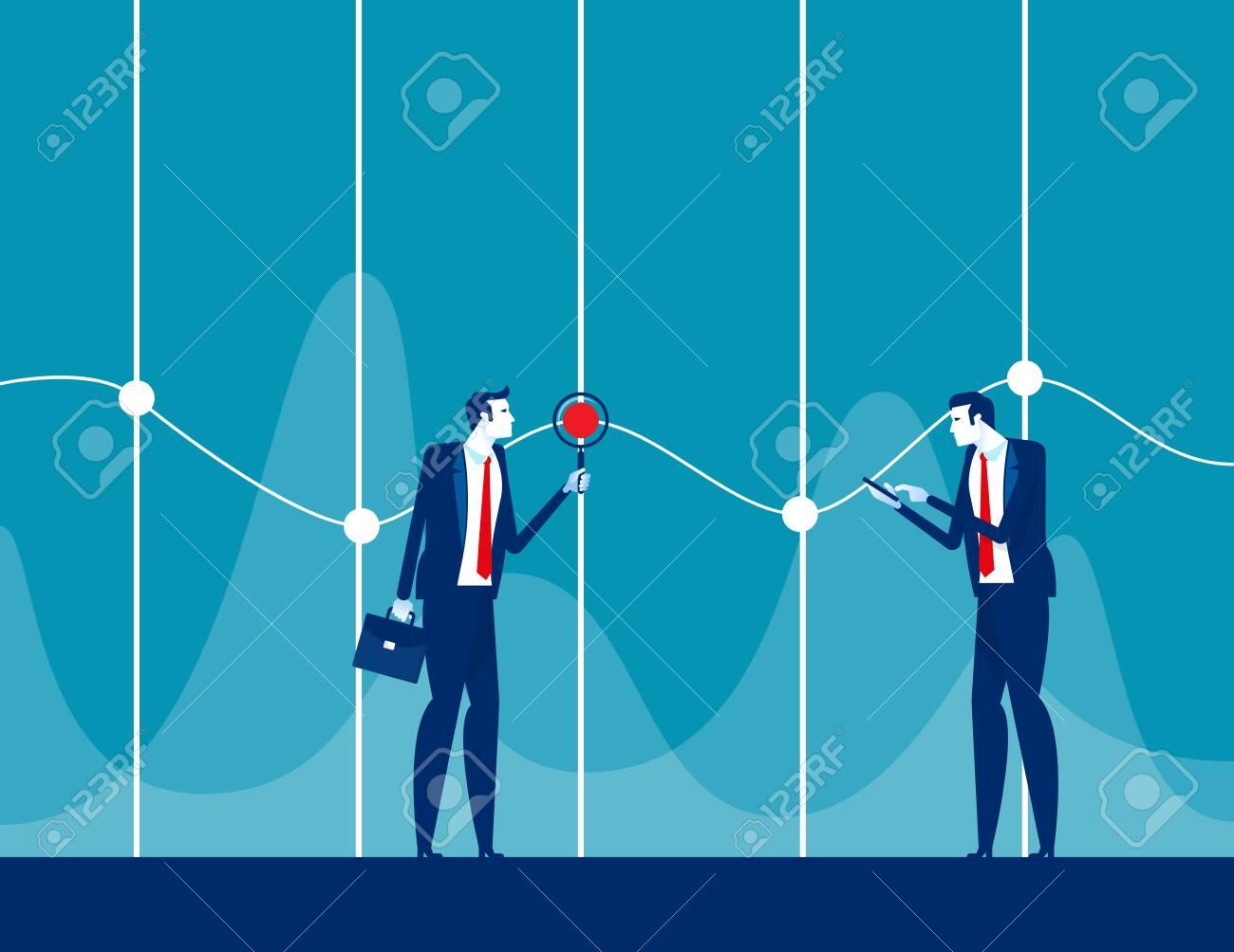 Analysis detail statistics. Concept business teamwork vector illustration. Marketing, Information. - 140339687