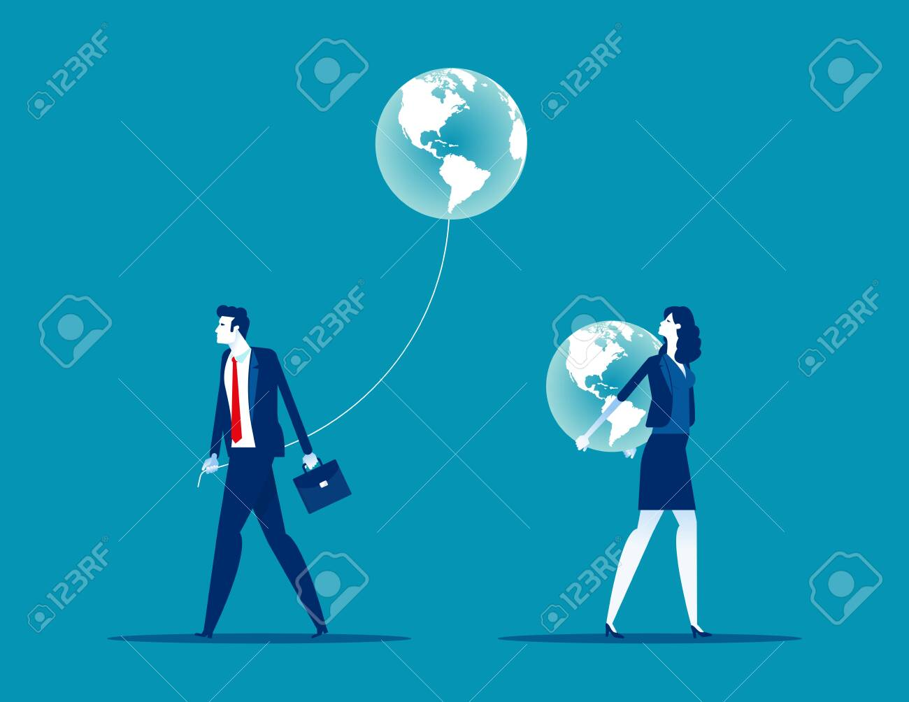Different people have different direction. Concept business vector illustration, Global - 141448821