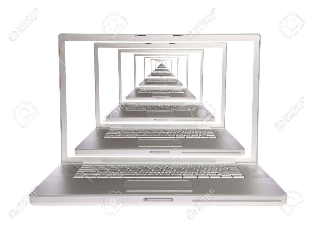 Laptops all in one on white isolated Stock Photo - 6128879