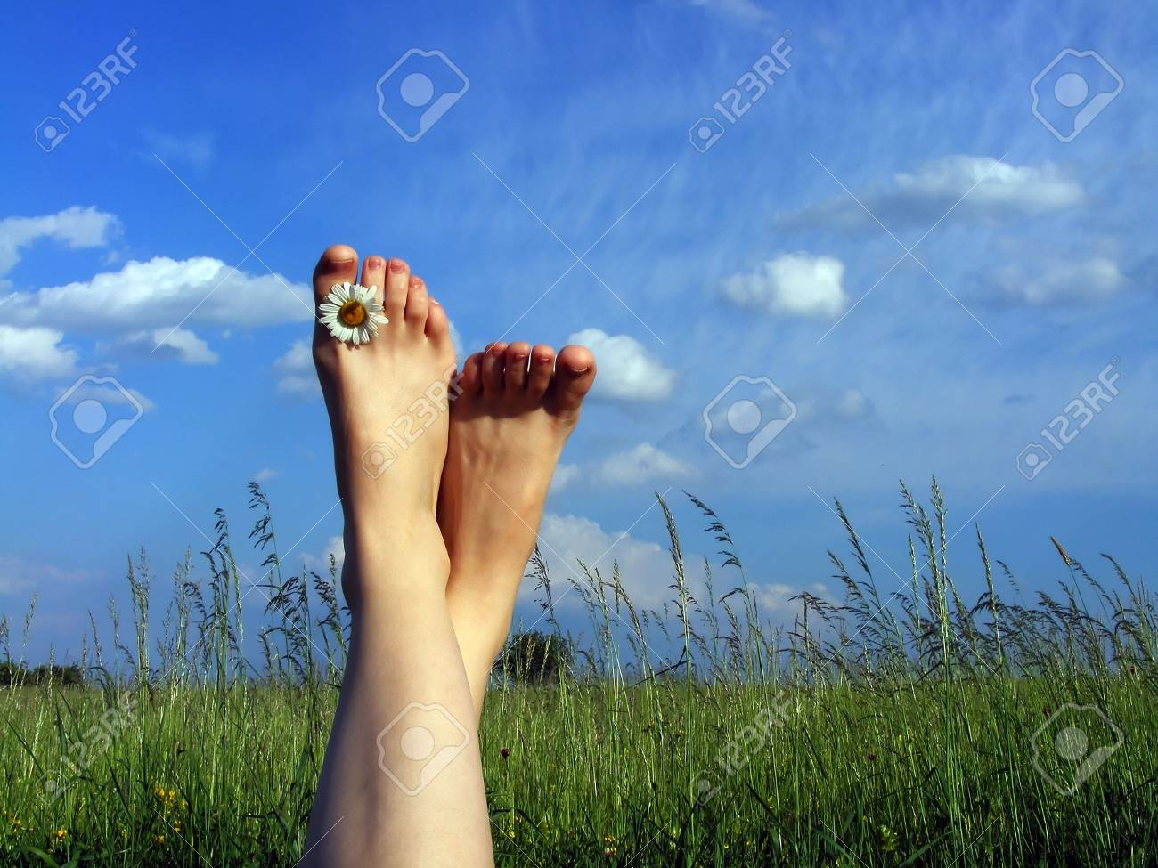 Resting on the grass Stock Photo - 3100392