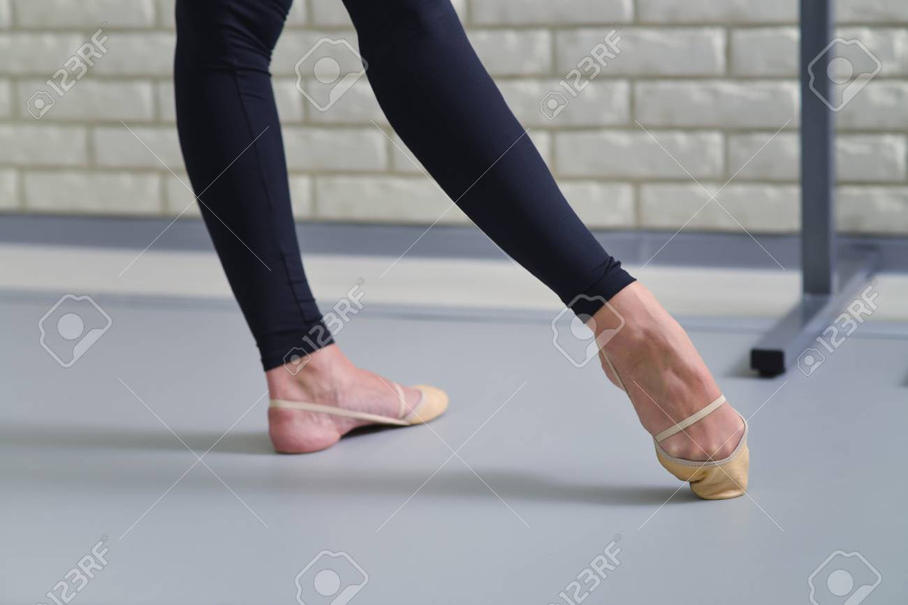 Detail Of Ballet Dancers Feet Close Up Of Pointe Shoes Stock Photo Picture And Royalty Free Image Image 73522216