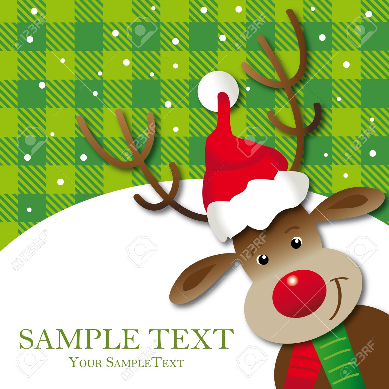 Cute Reindeer Greeting Card, Space, Xmas Royalty Free Cliparts ...