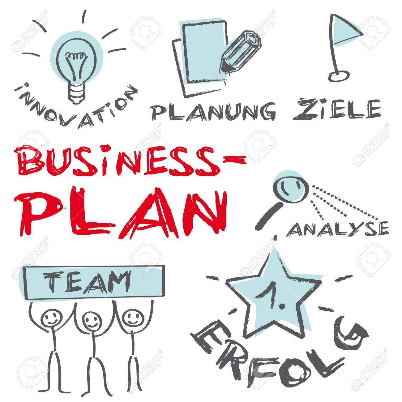 Business Plan Concept Building A Business Royalty Free Cliparts