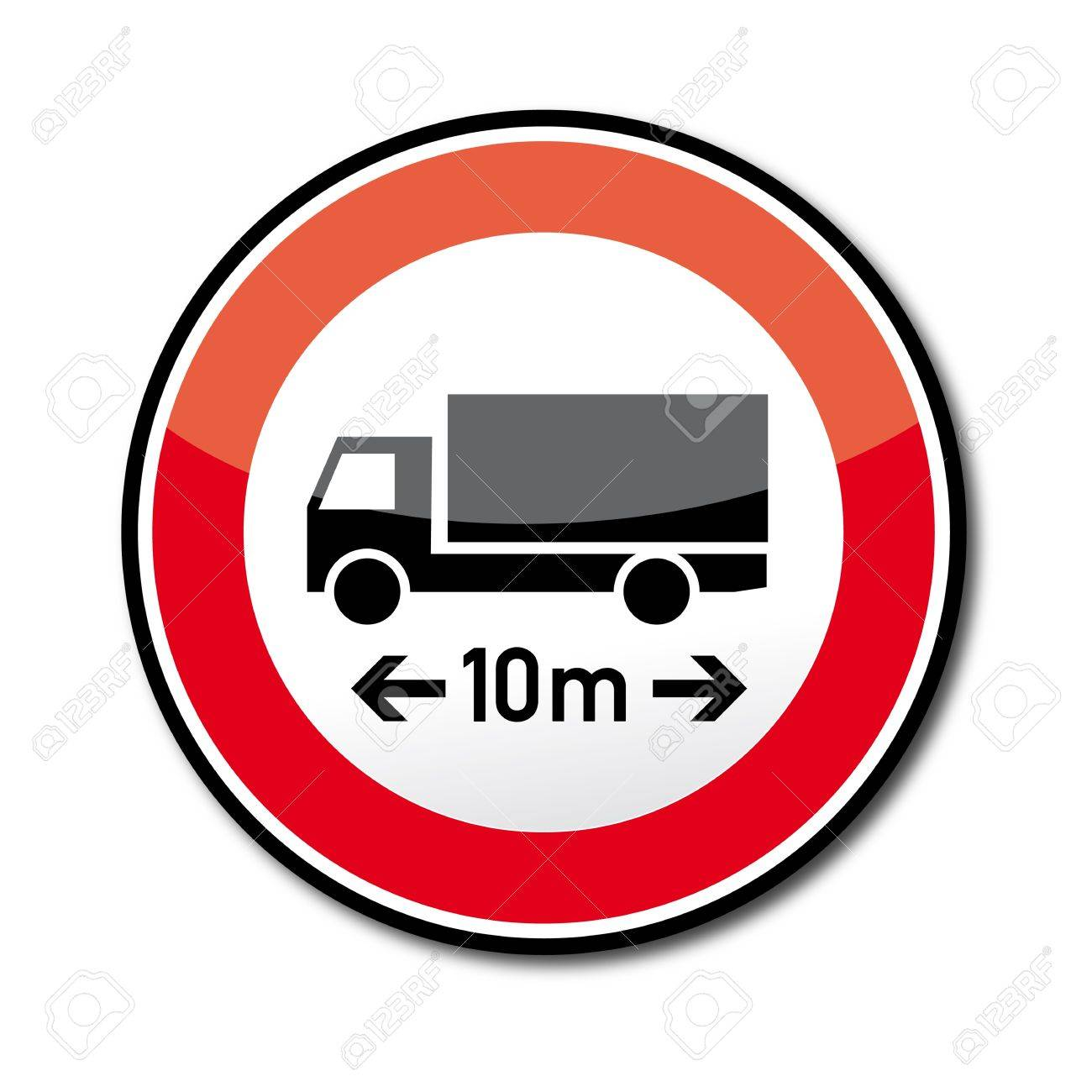 Road Sign Ban On Cars And Trains Over The Specified Length ...