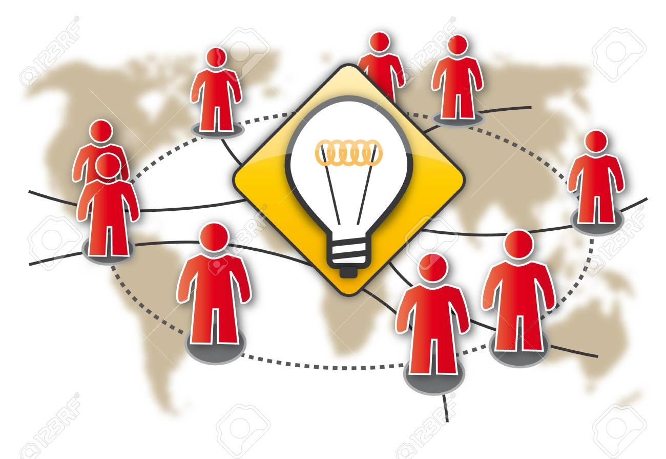 Crowdsourcing, swarm removal, think tank, Erfolg Stock Vector - 17915980