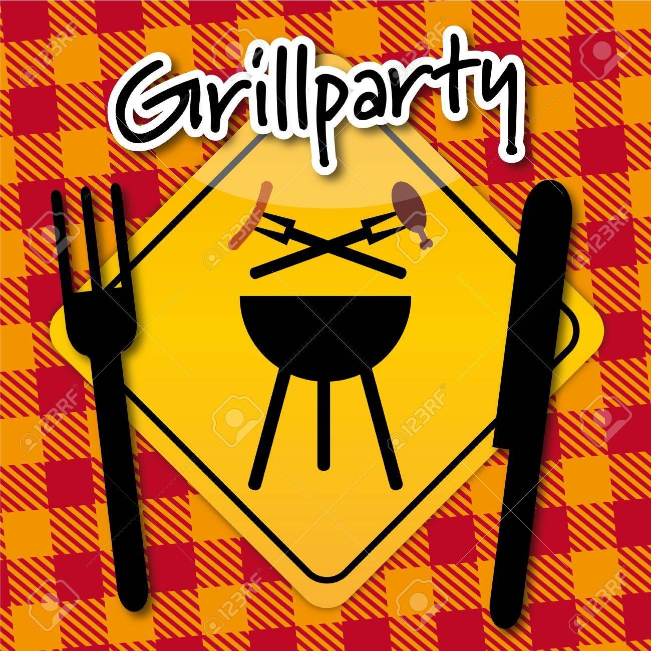 Grillparty Einladung Stock Vector - 18403576