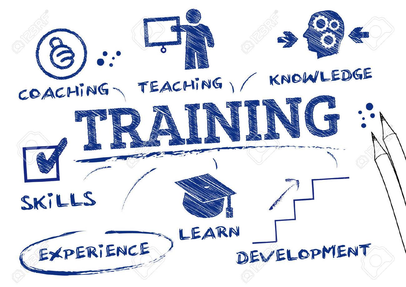 training- chart with keywords and icons - 31479388