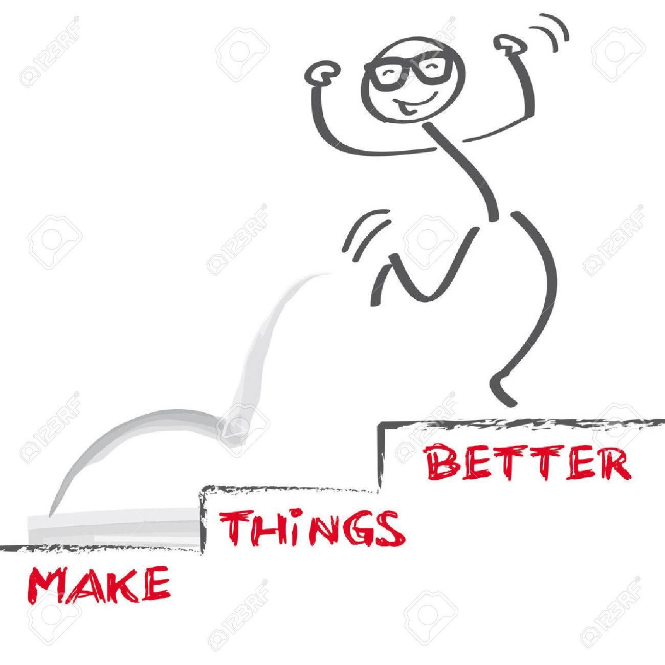 vector image make things better - 39243582