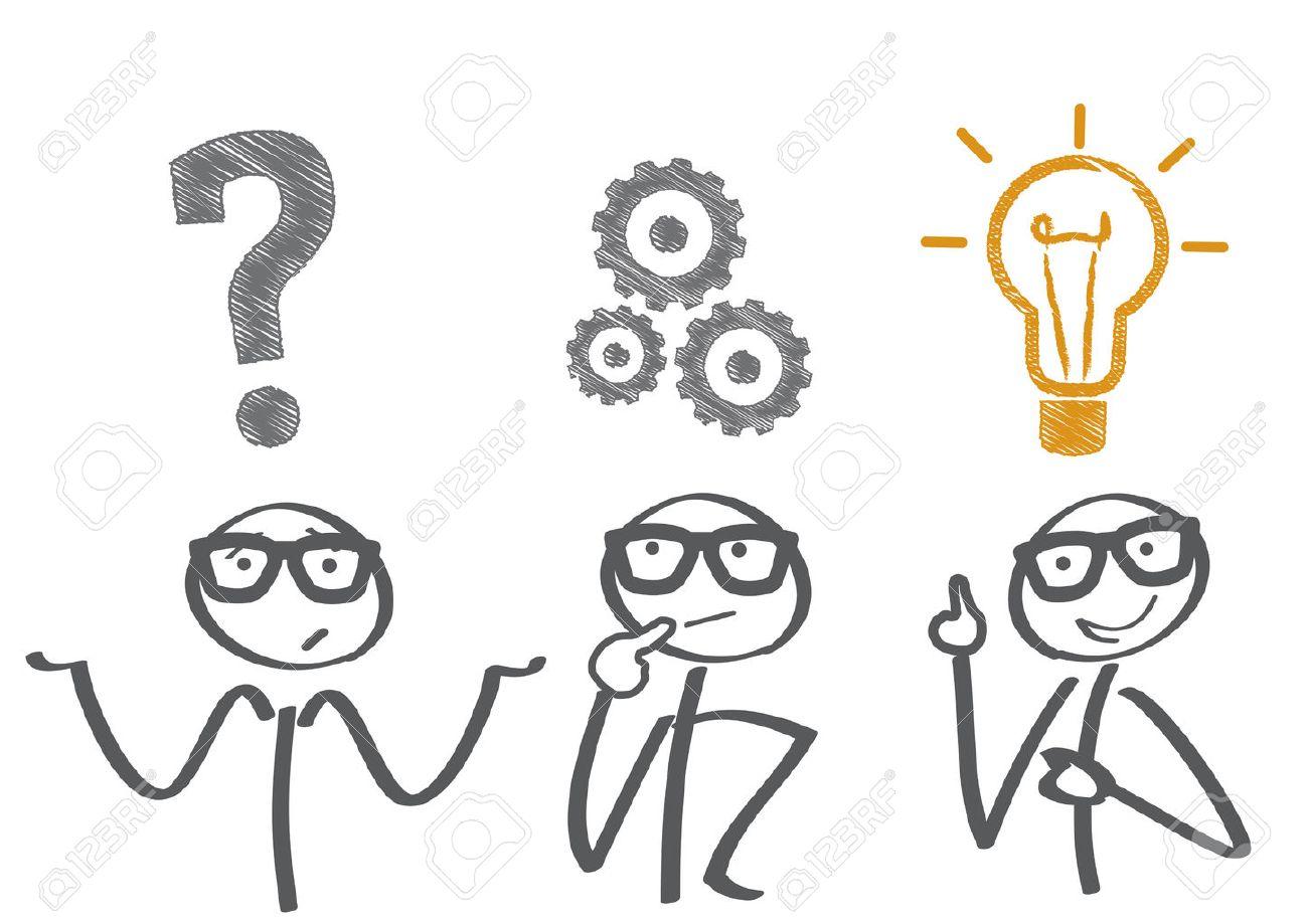 Thinking. Businessman solving a problem - 50242602
