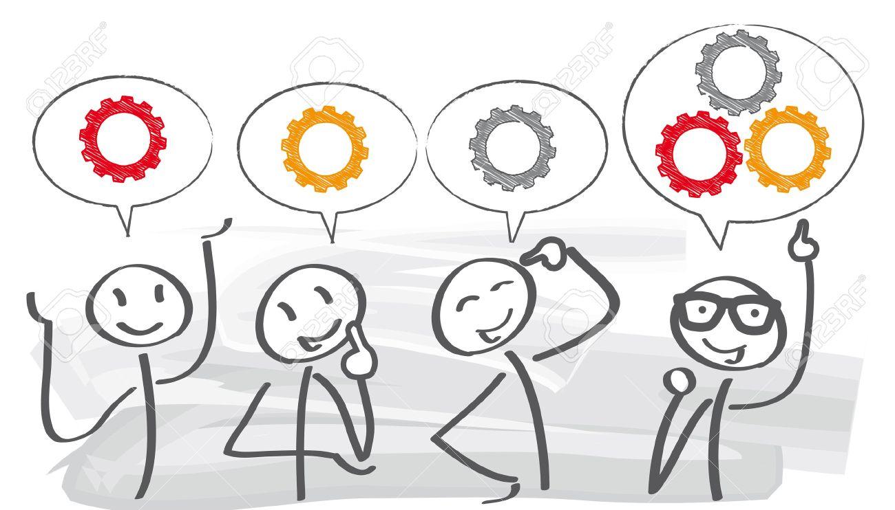 brainstorming creative team concept - 54182154