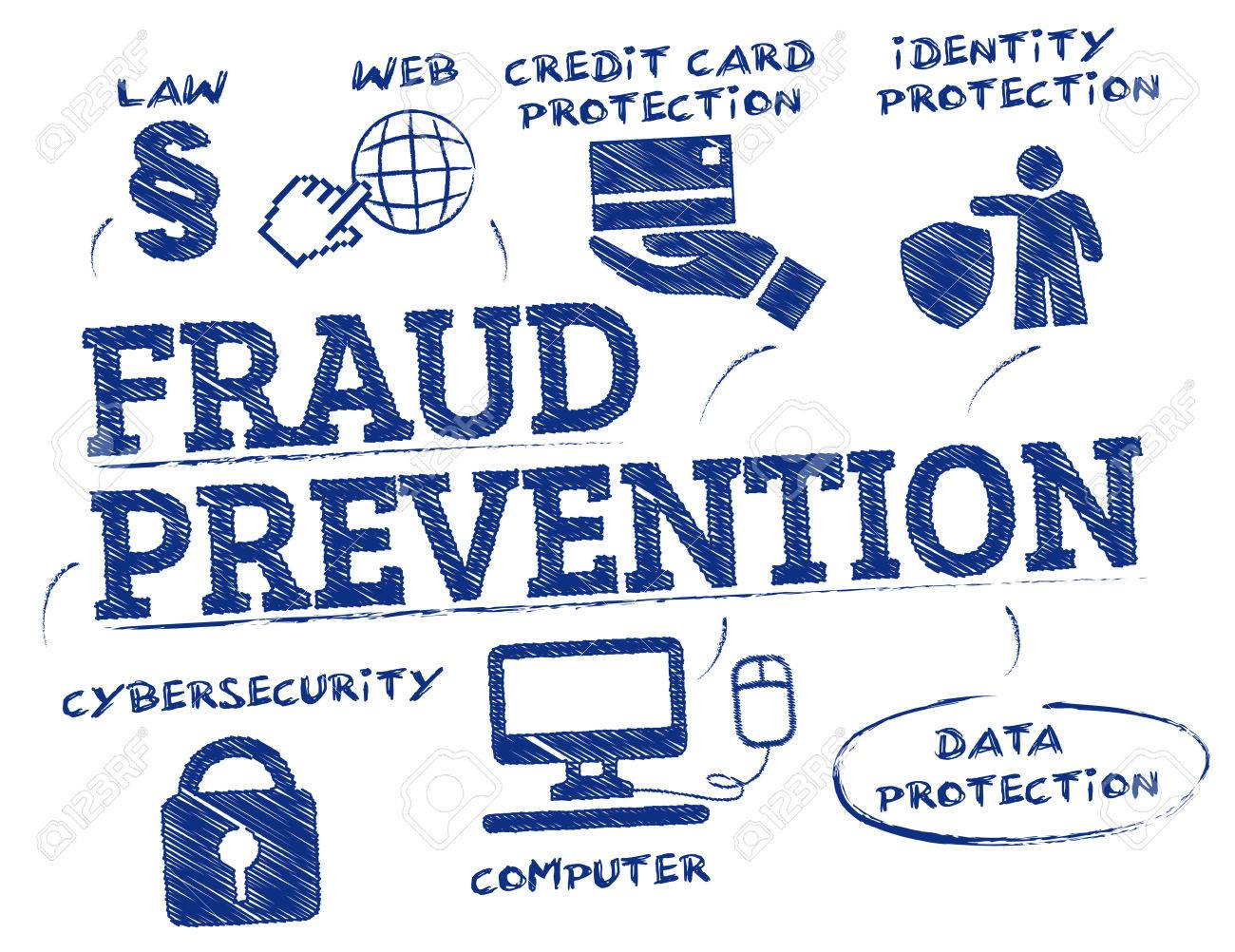 fraud prevention. Chart with keywords and icons - 67270088