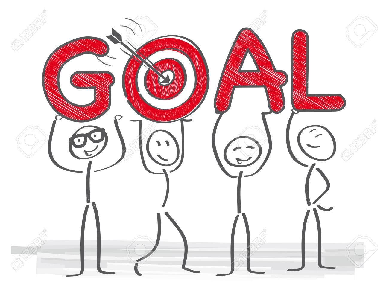 Group of people targeting goal. - 85022575