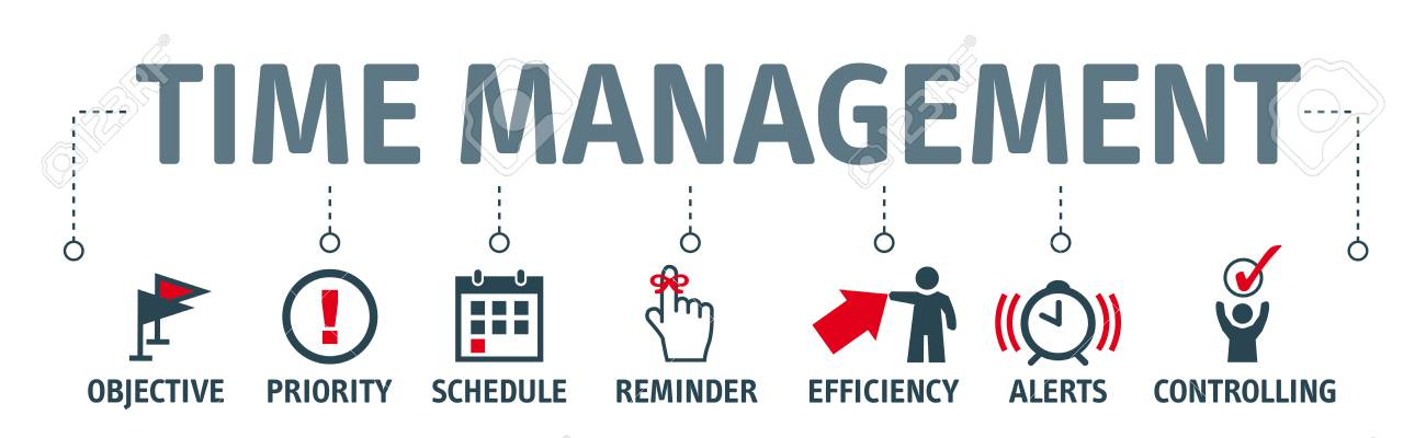 Banner Time Management Concept Vector Illustration With Icons Royalty Free Cliparts Vectors And Stock Illustration Image 89515396