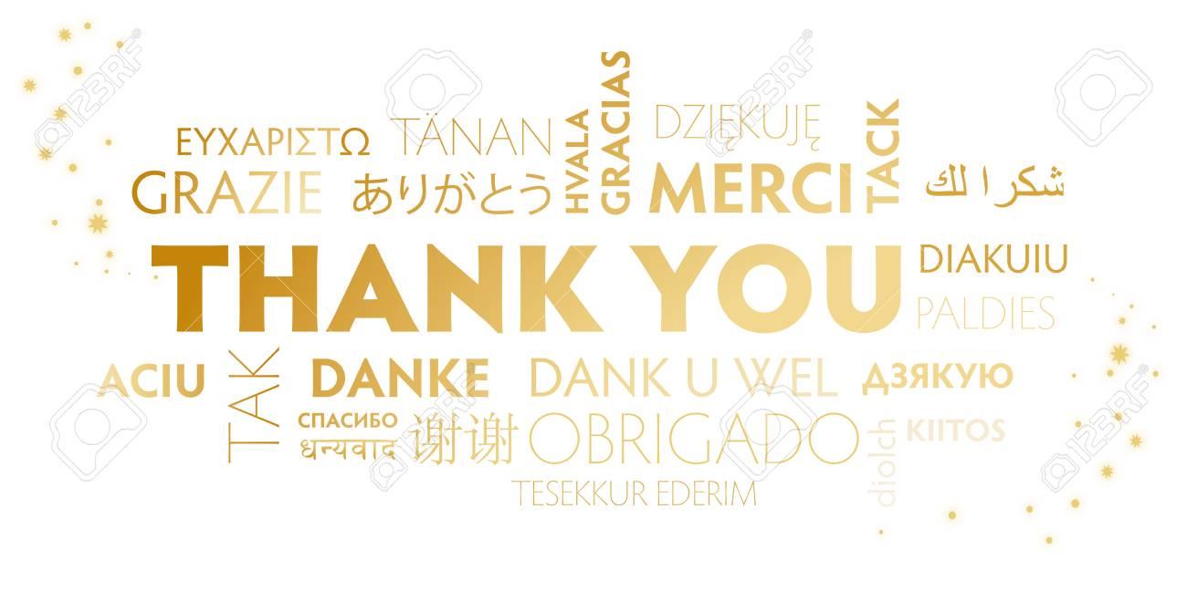 Weiße Und Goldene Postkarte Danken Ihnen - Feiertagsillustration Für ...