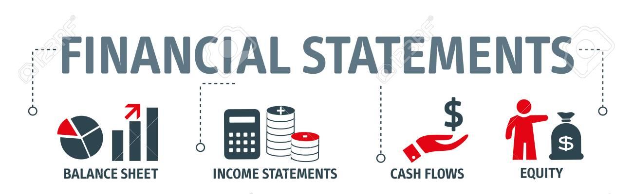 Banner financial statements concept vector illustration - 99833496