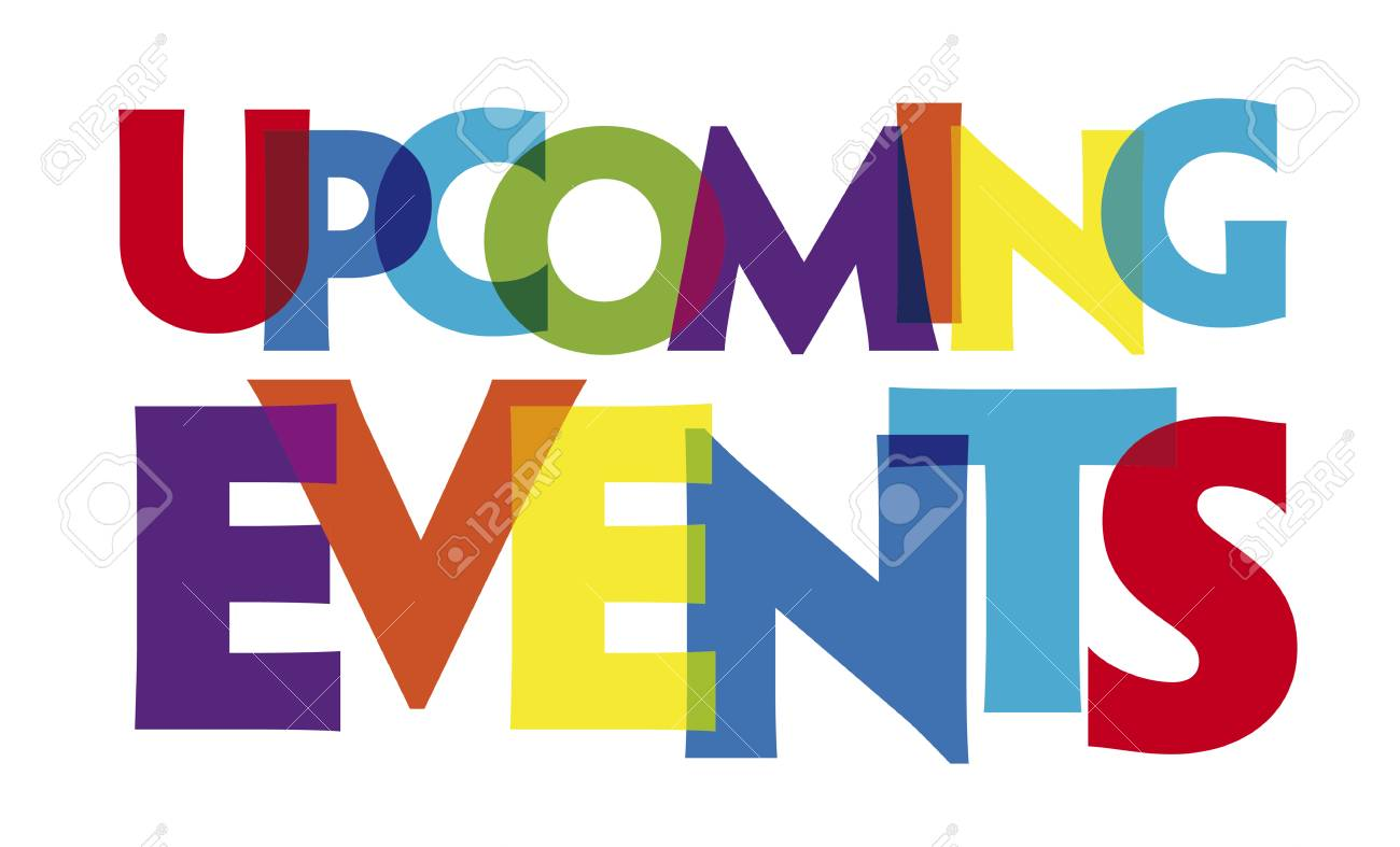 Upcoming Events Vector Illustration Letters Banner Colorful Royalty Free Cliparts Vectors And Stock Illustration Image 109909509