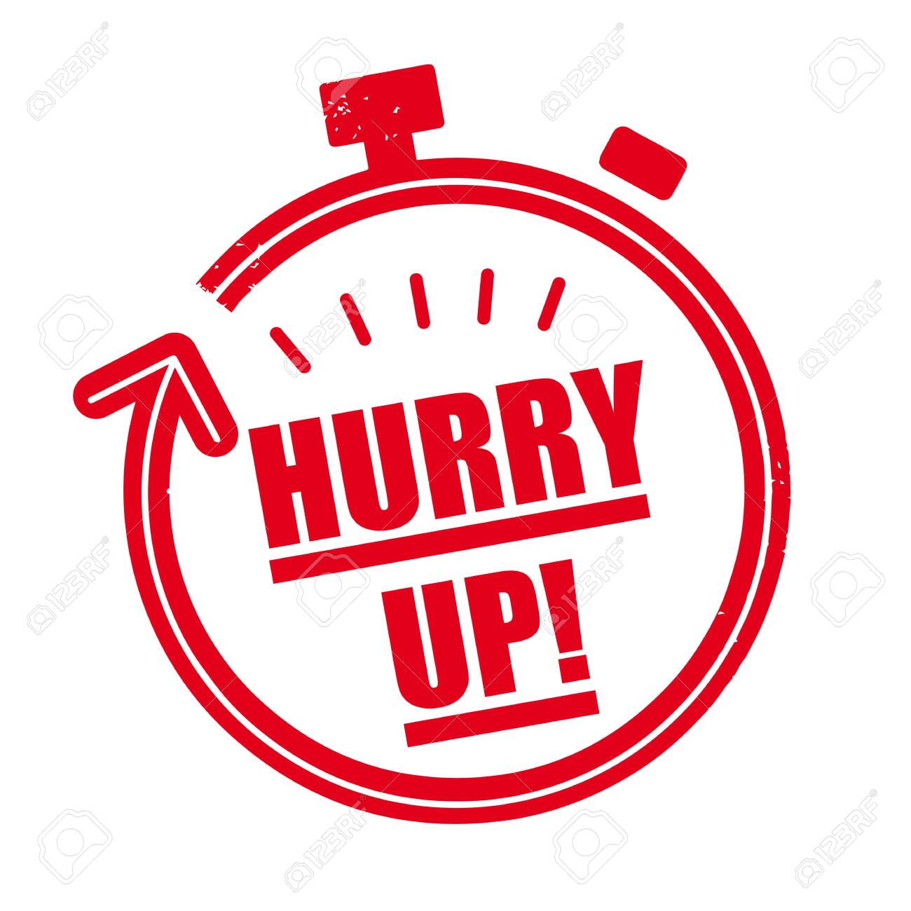 Hurry up - vector illustration red rubber stamp concept - 143799290