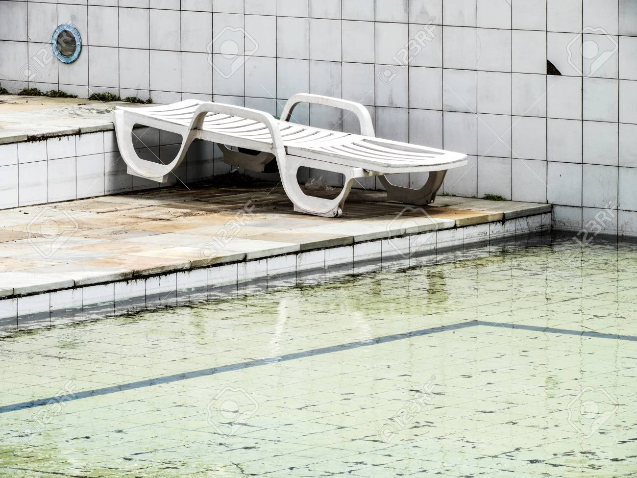 A Empty Pool In A Club Where There S A Good Restaurant And The Stock Photo Picture And Royalty Free Image Image 97578722