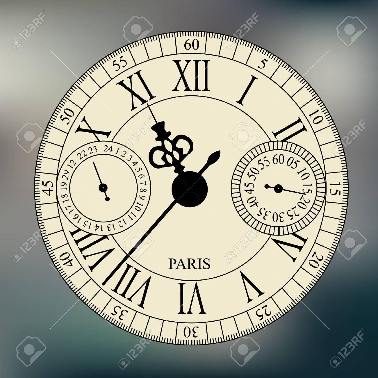 old fashioned antique wrist watch watchface on blurred background - 52872218