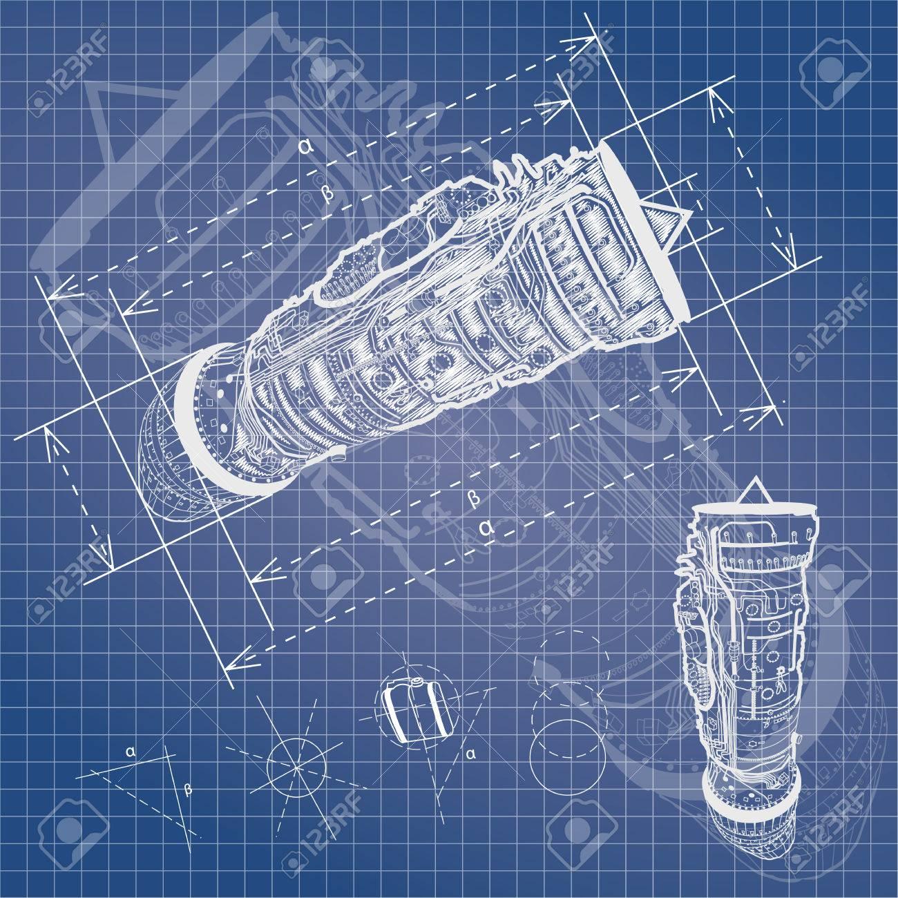 Blueprint style vector outline airplane engine plan ilustraciones blueprint style vector outline airplane engine plan foto de archivo 52872219 malvernweather Images