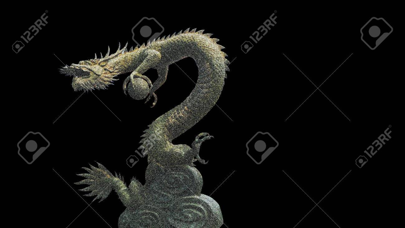 The Dragon Holding A Crystal Ball Is A Symbol Of Goodluck Stock