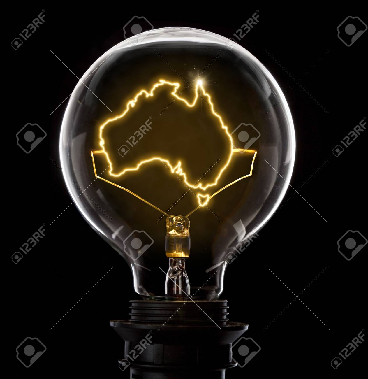 Groovy Clean And Shiny Lightbulb With Australia As A Glowing Wire Series Wiring 101 Orsalhahutechinfo