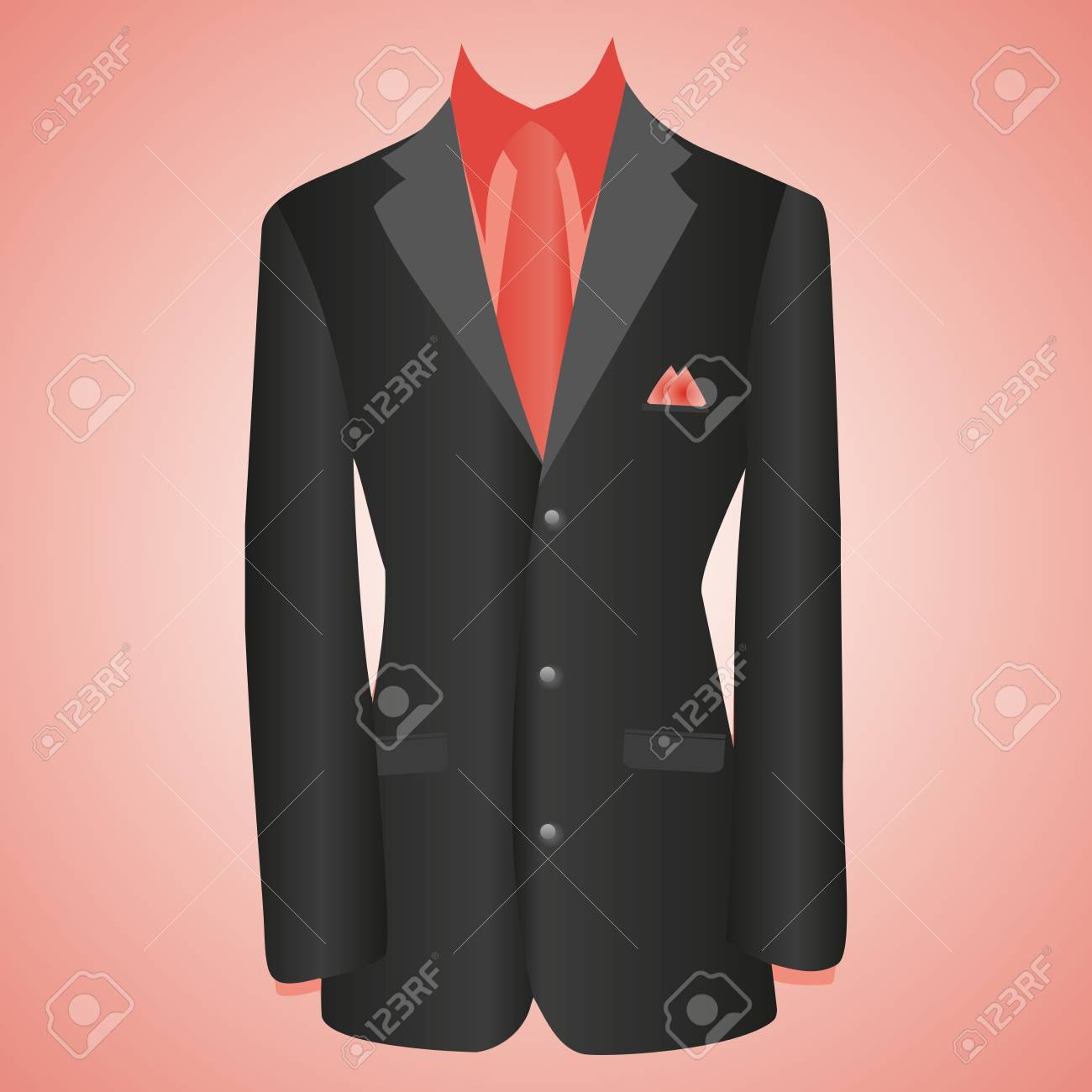 Office Dress Black Jacket Shirt Tie Suit Royalty Free Cliparts