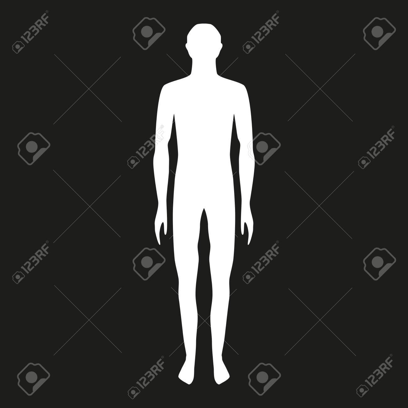 Male Body Shapes Human Outline Vector Illustration Full
