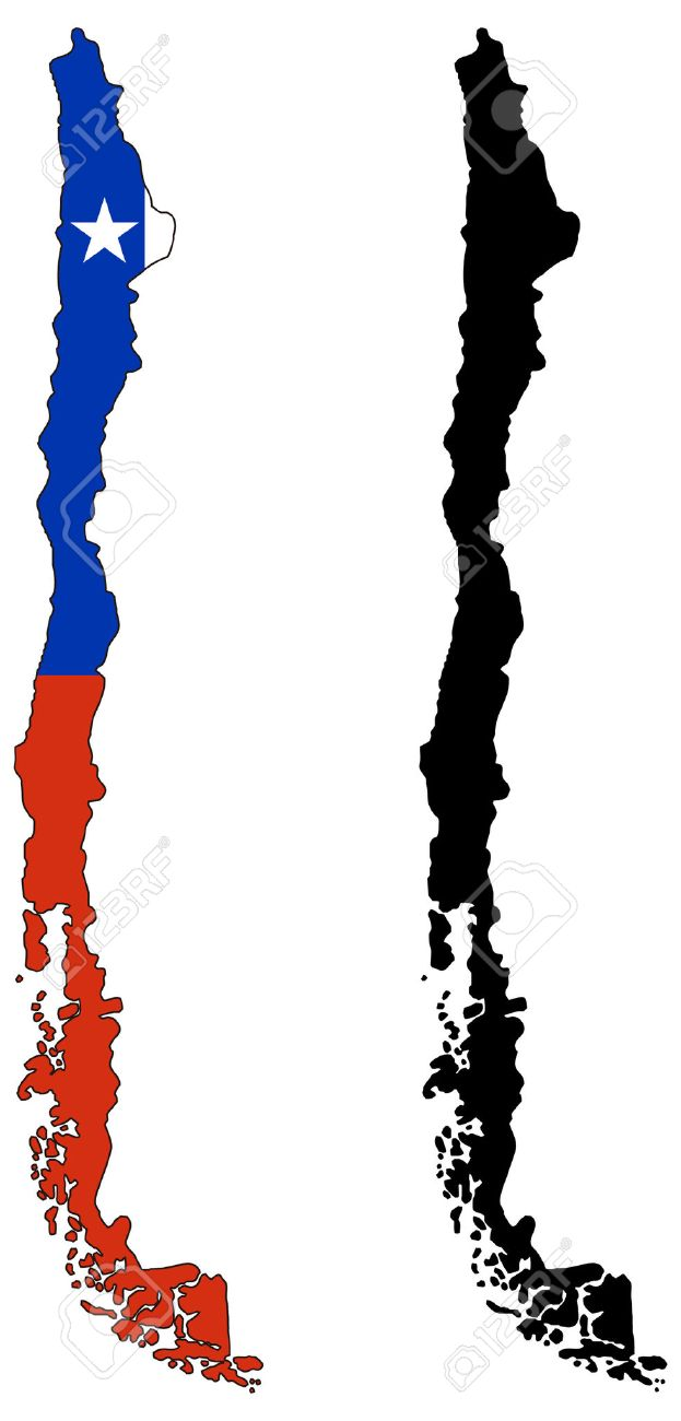 vector map and flag of chile royalty free cliparts vectors and