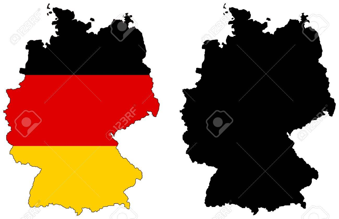 Vector Map And Flag Of Germany Royalty Free Cliparts Vectors And - Germany map vector