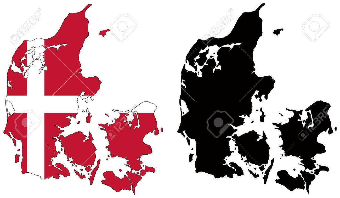 denmark map vector vector free printable images world maps