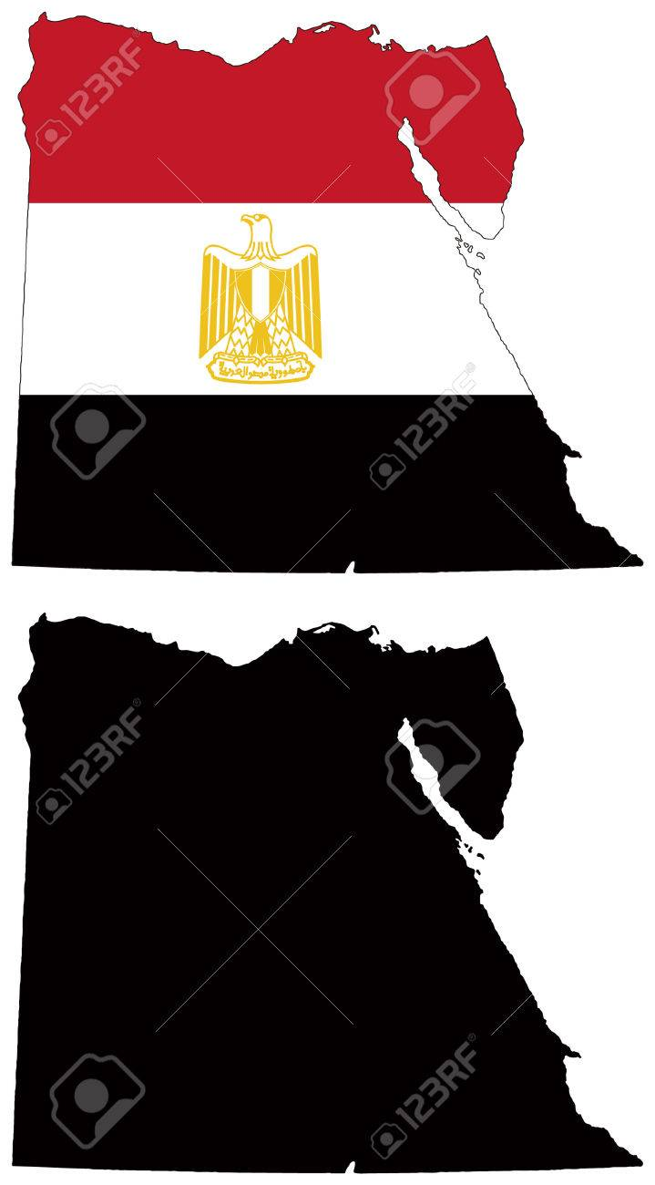 vector map and flag of egypt Stock Vector - 5572013