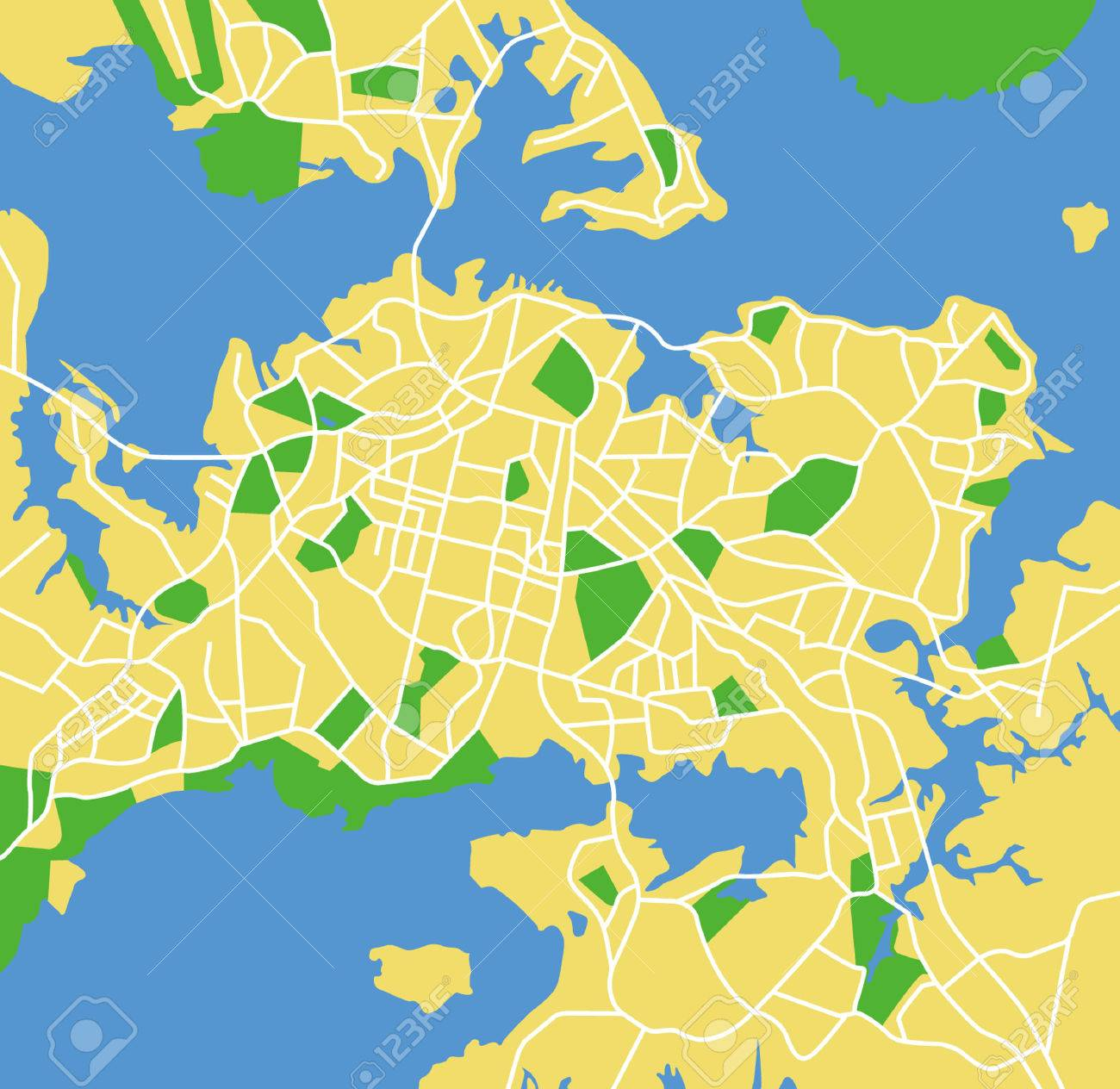 New Zealand Auckland Map.Vector Pattern City Map Of Auckland New Zealand