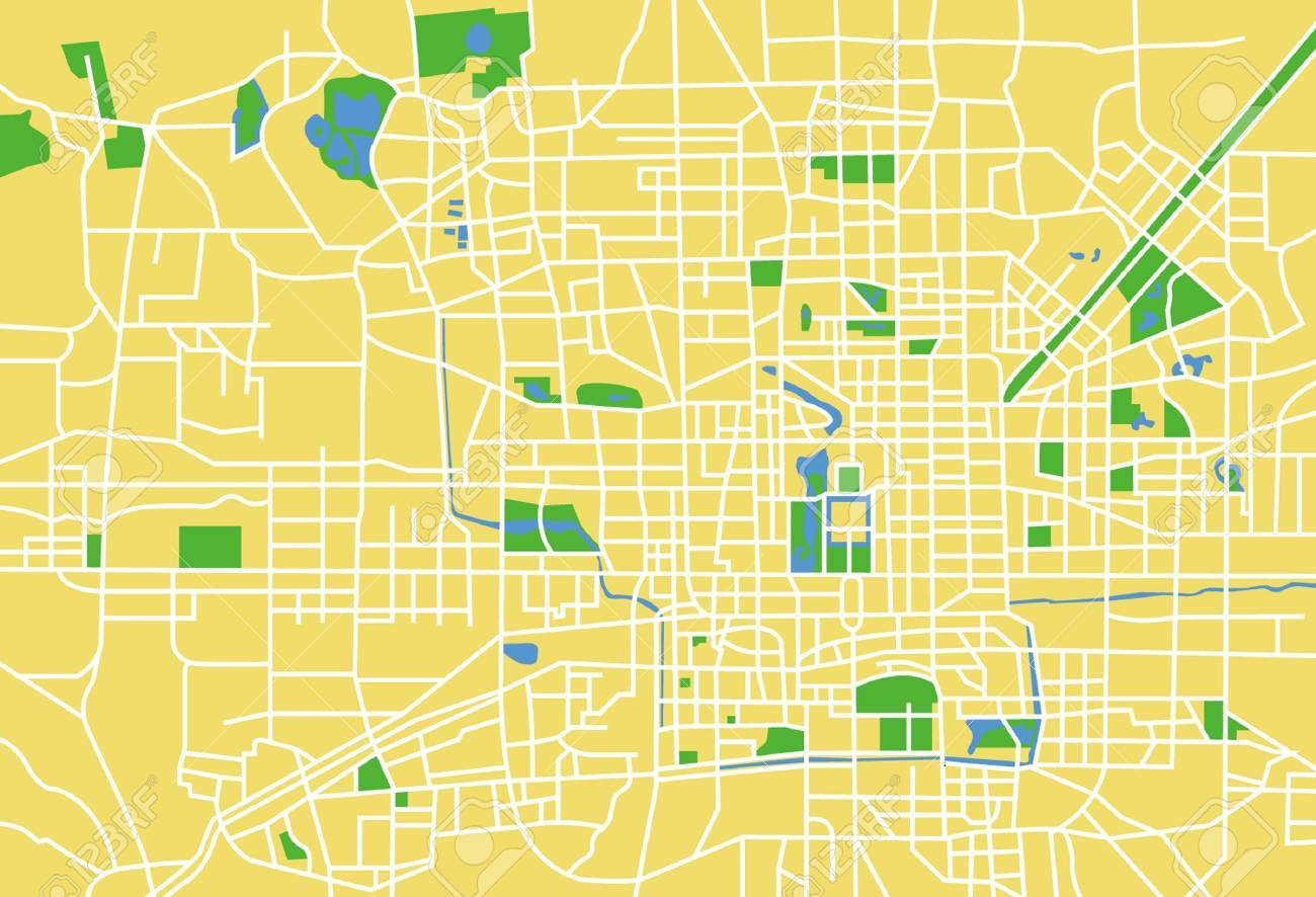 City Map Vector Free Precisely Vector City Map of