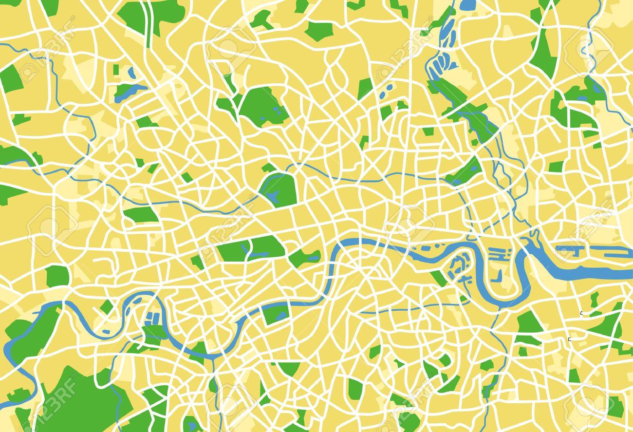 vector vector pattern city map of londonunited kingdom