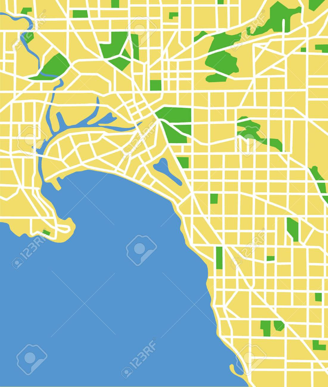 Map Of Melbourne Australia.Vector Pattern City Map Of Melbourne Australia Royalty Free