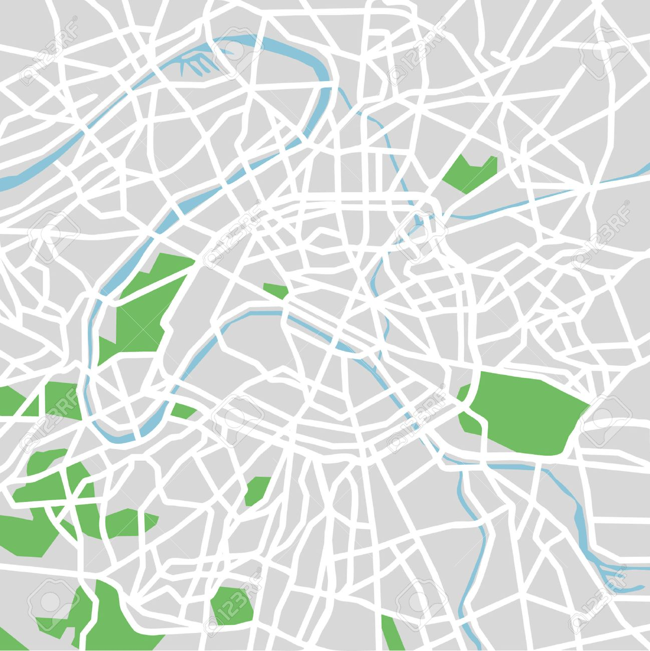 ベクトル パターン都市地図パリフランスののイラスト素材ベクタ