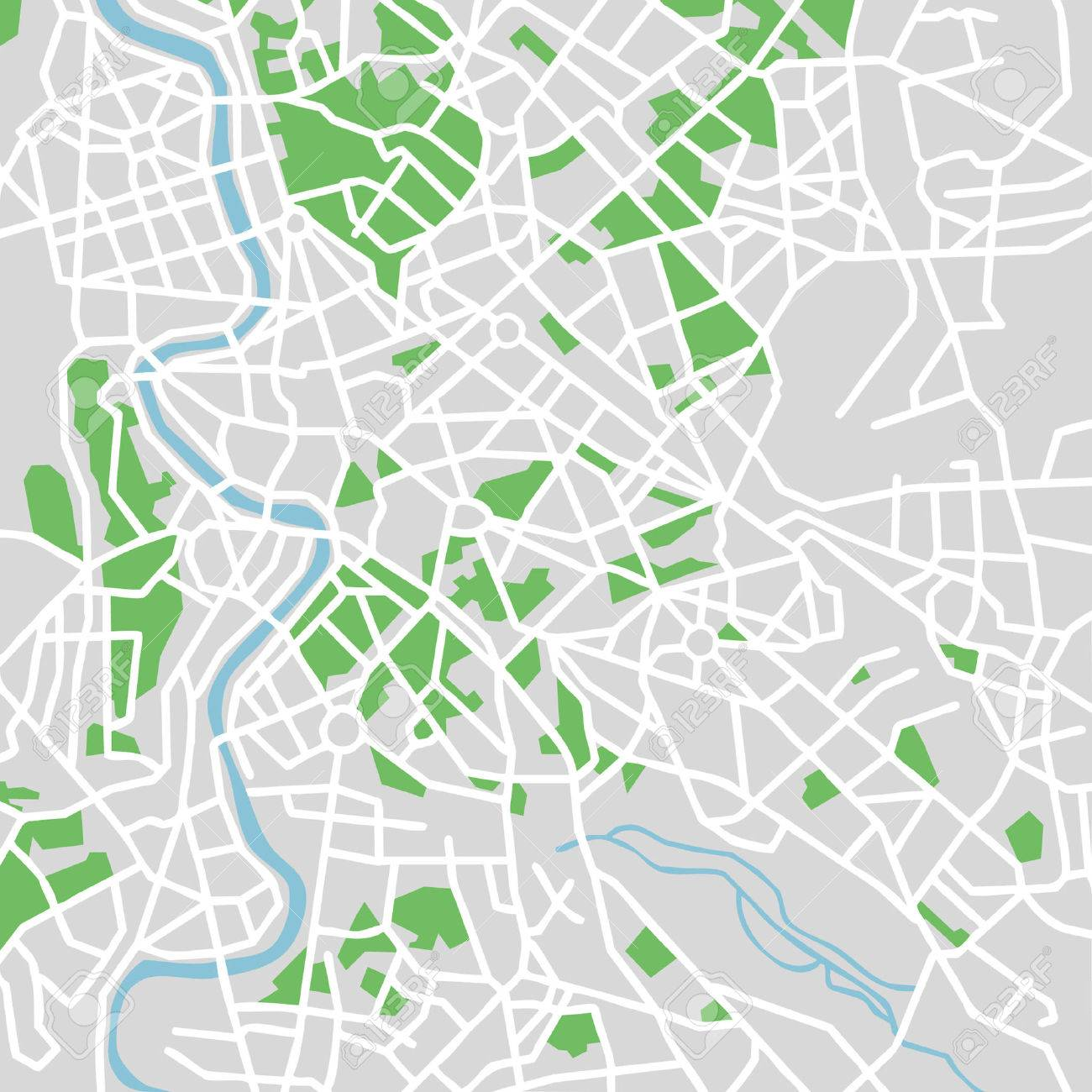 Vector Pattern City Map Of Rome Italy Royalty Free Cliparts