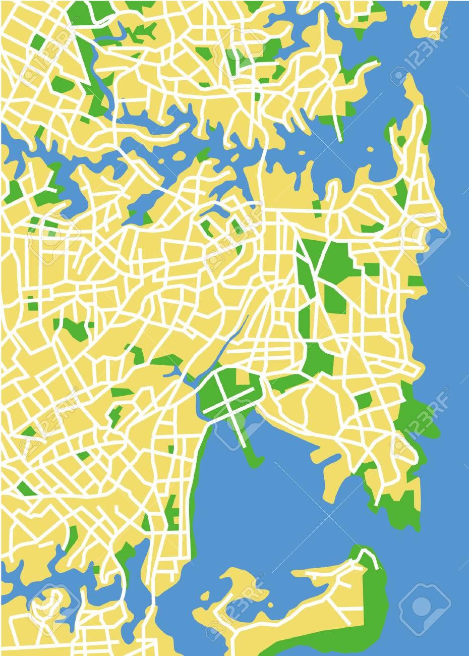 Sydney Australia Map City.Vector Pattern City Map Of Sydney Australia Royalty Free Cliparts