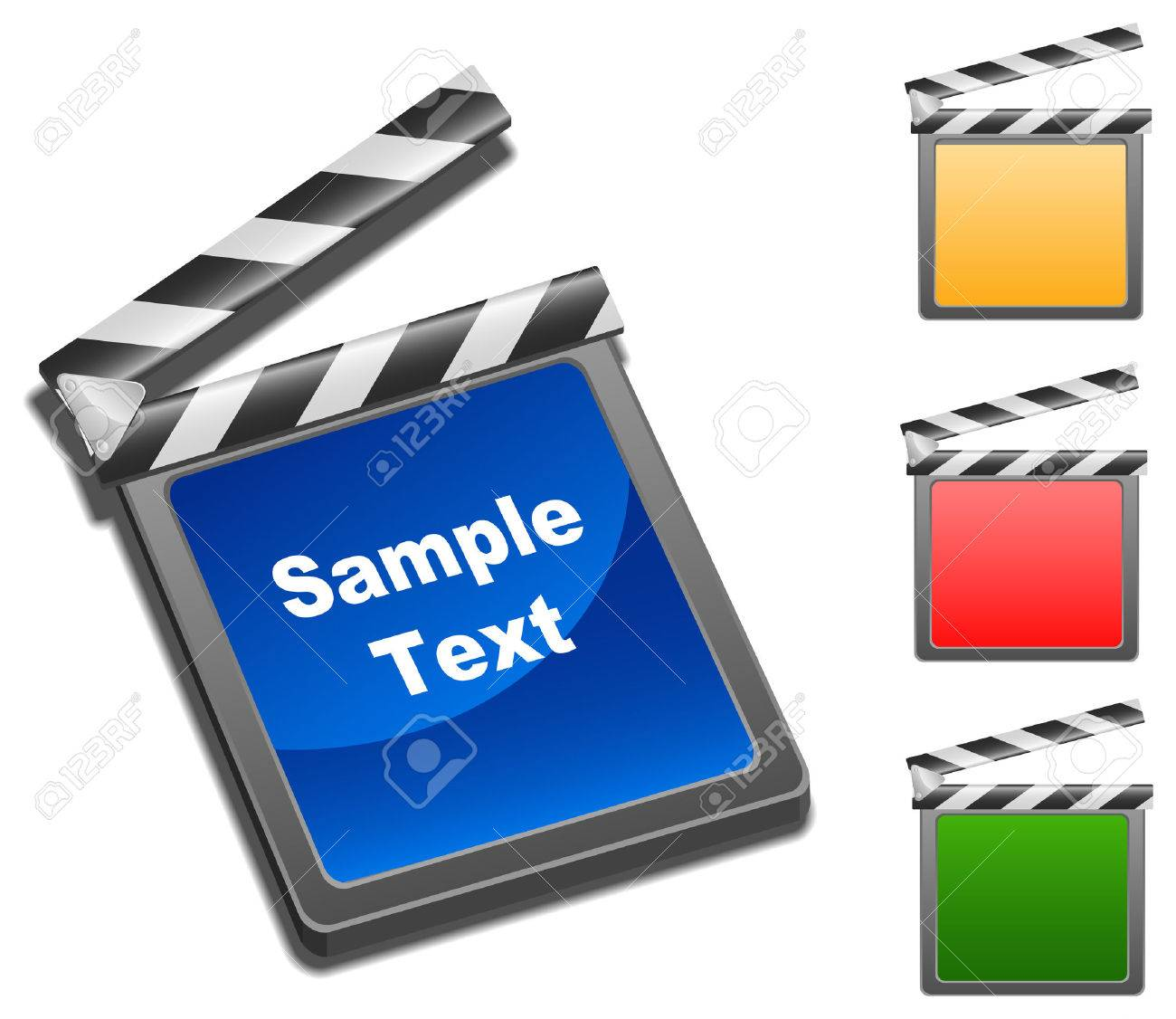 Illustration of movie clap Stock Vector - 6865585