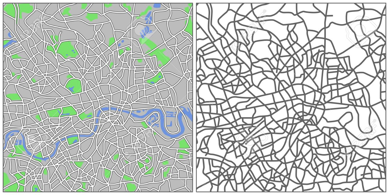 Illustration city map of London Stock Vector - 6865607