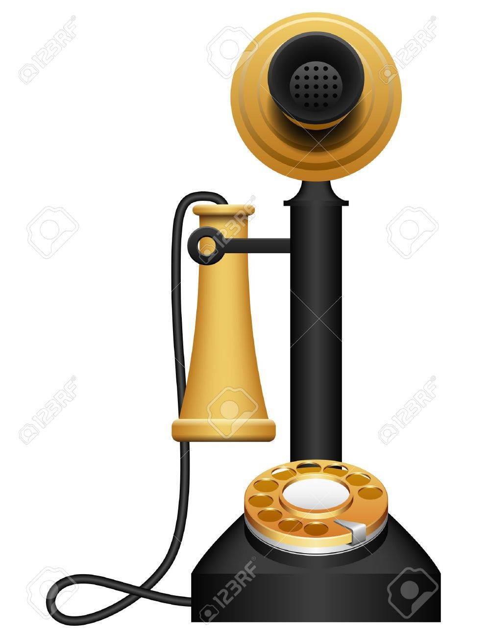 Layered vector illustration of Old Telephone. - 9929978