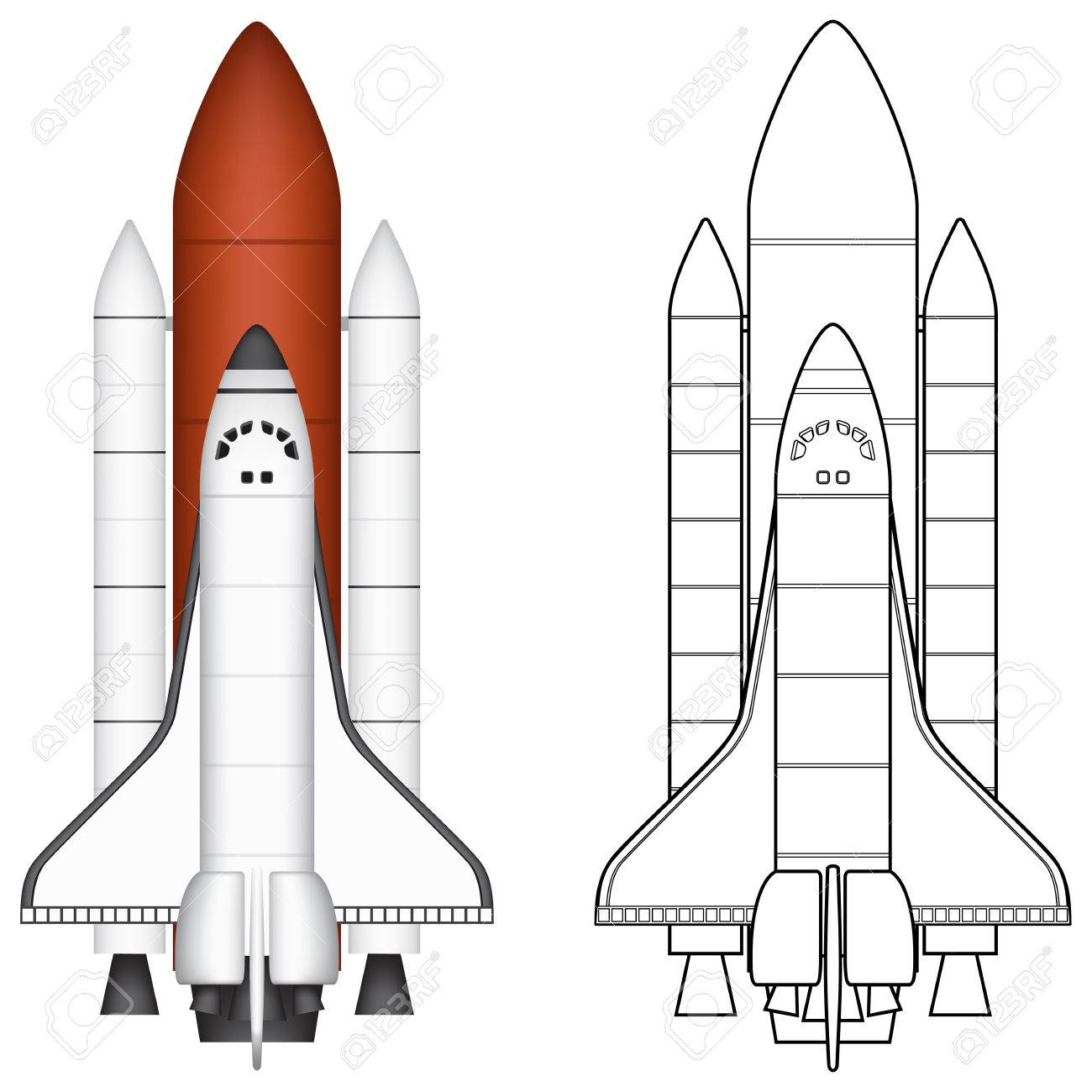 layered vector illustration of space shuttle royalty free cliparts rh 123rf com space shuttle vector art space shuttle vector free