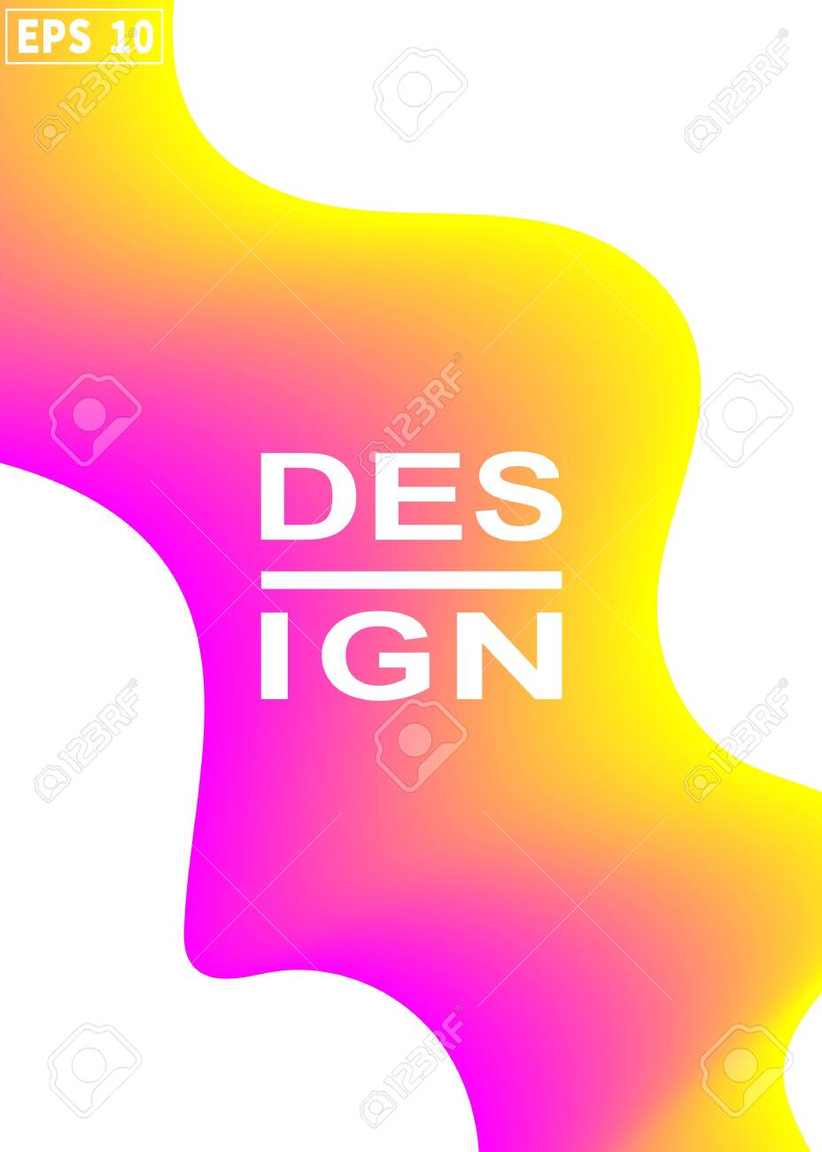 Pink Yellow Gradient Background Modern Abstract Cover A Cool